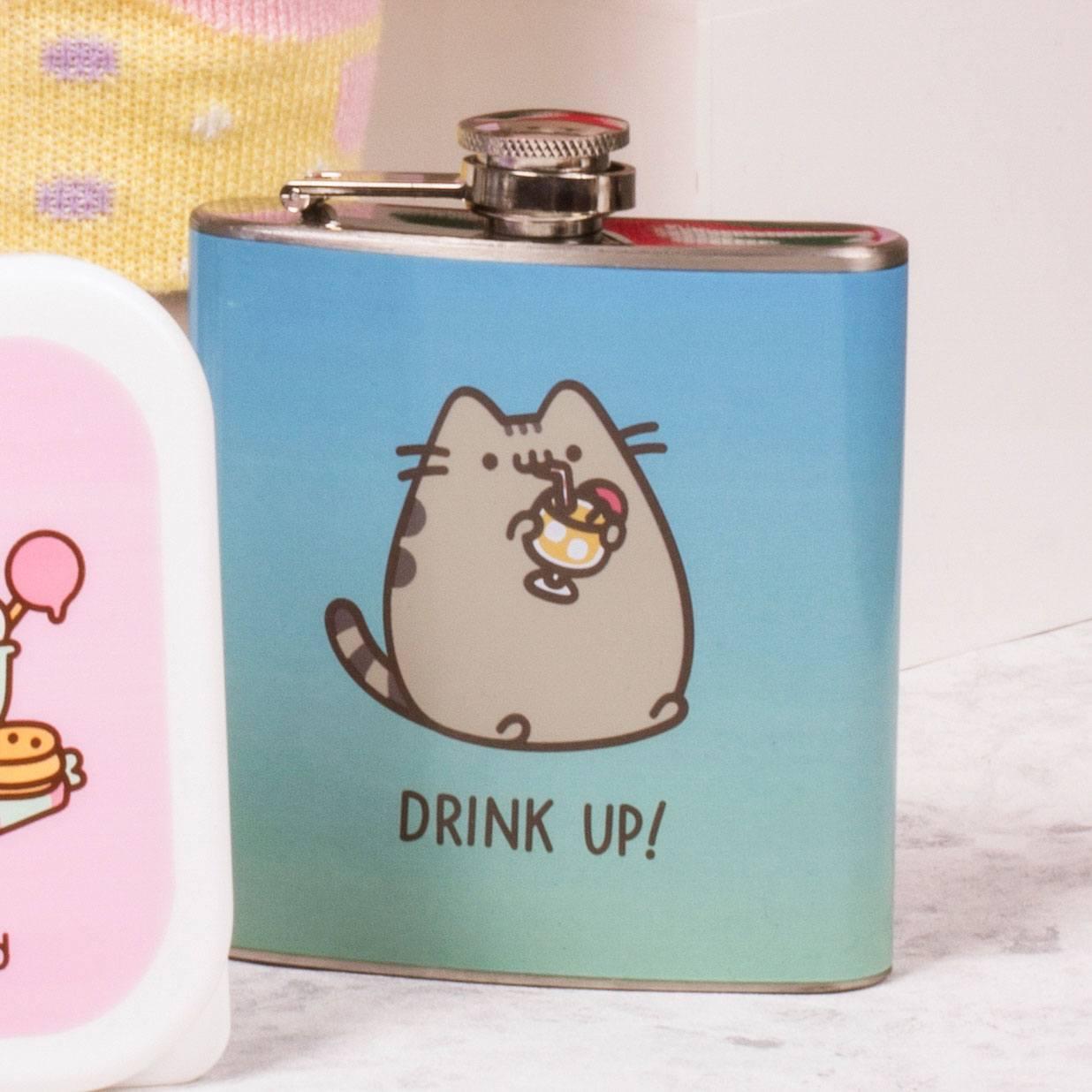 Pusheen Hip Flask Drink Up