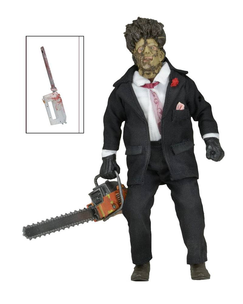 Texas Chainsaw Massacre 2 Retro Action Figure 30th Anniversary Leatherface 20 cm