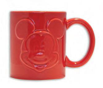 Mickey Mouse Relief Mug Red