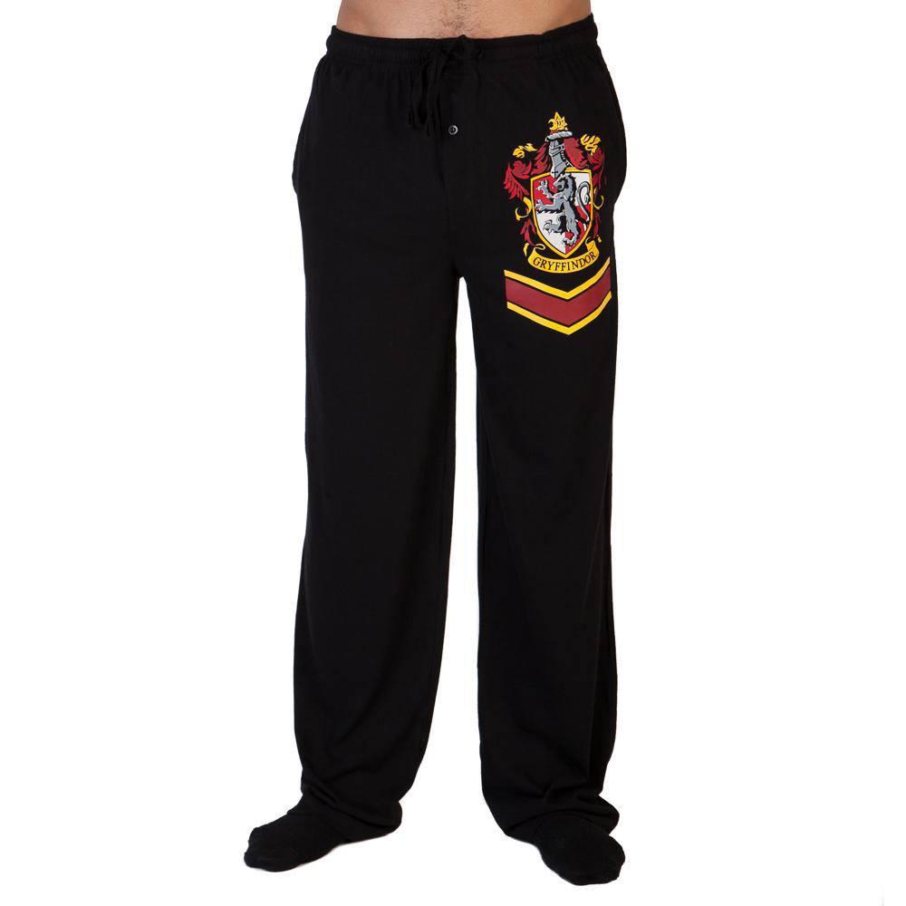 Harry Potter Lounge Pants Hogwarts Gryffindor Crest Size XL