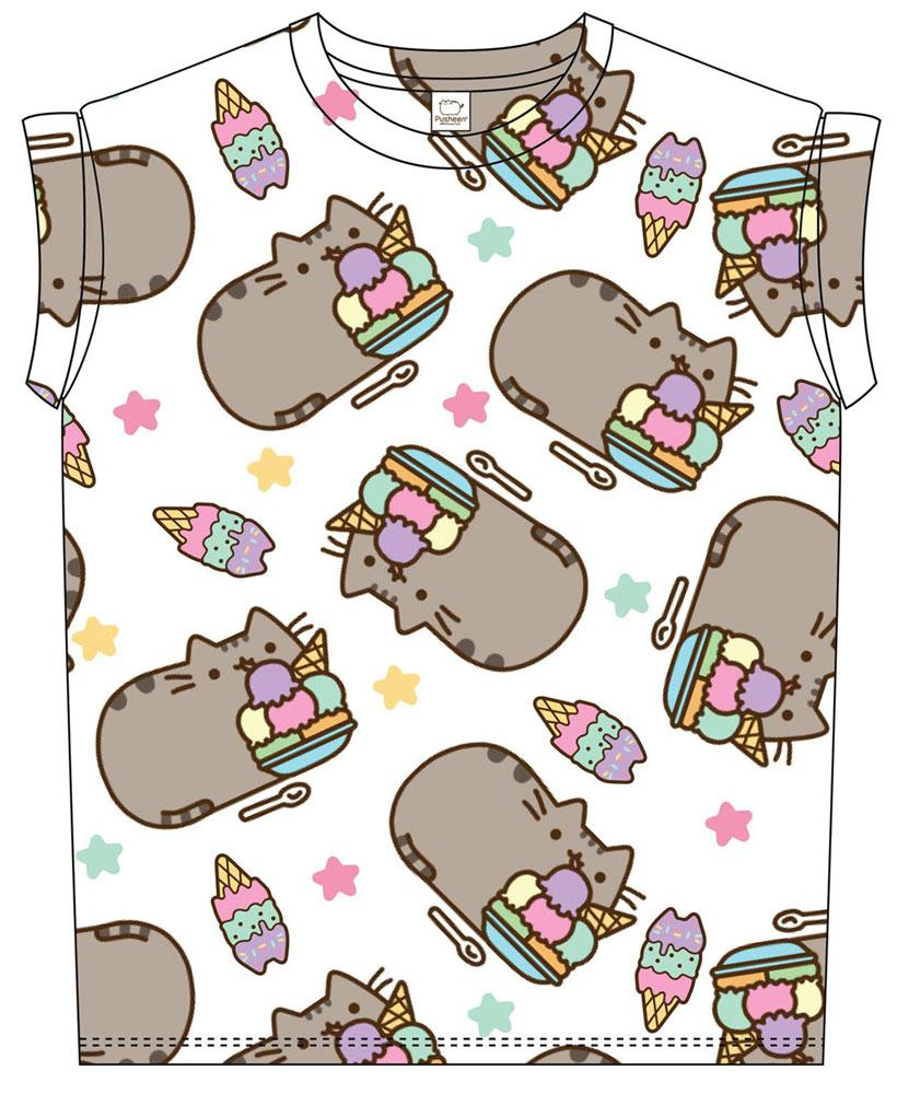 Pusheen Ladies Sublimation T-Shirt Ice Cream Size S