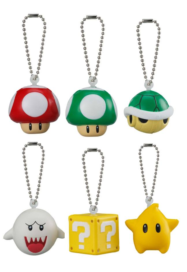 Super Mario 3D World Keychain 4 cm Display Soft Squeezed Mascot Wave 1 (18)