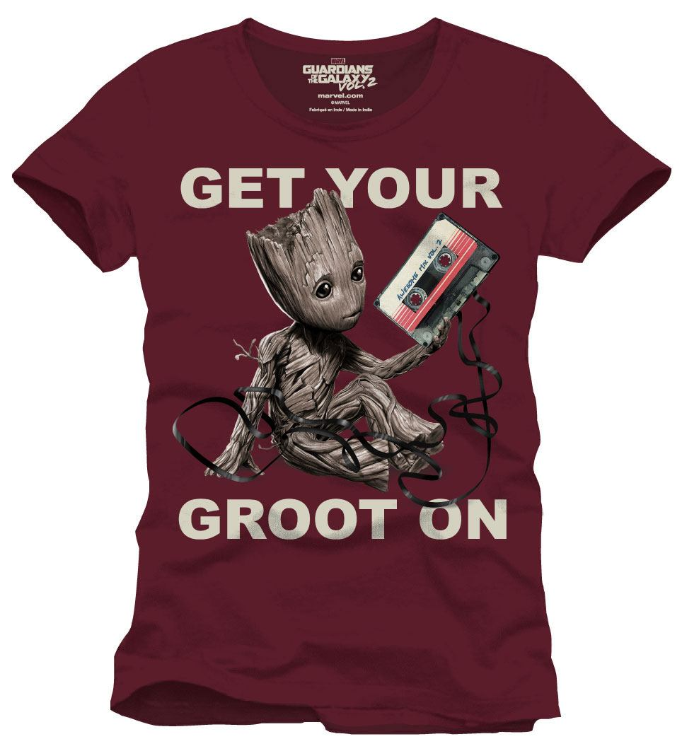 Guardians of the Galaxy 2 T-Shirt Get Your Groot On Size L