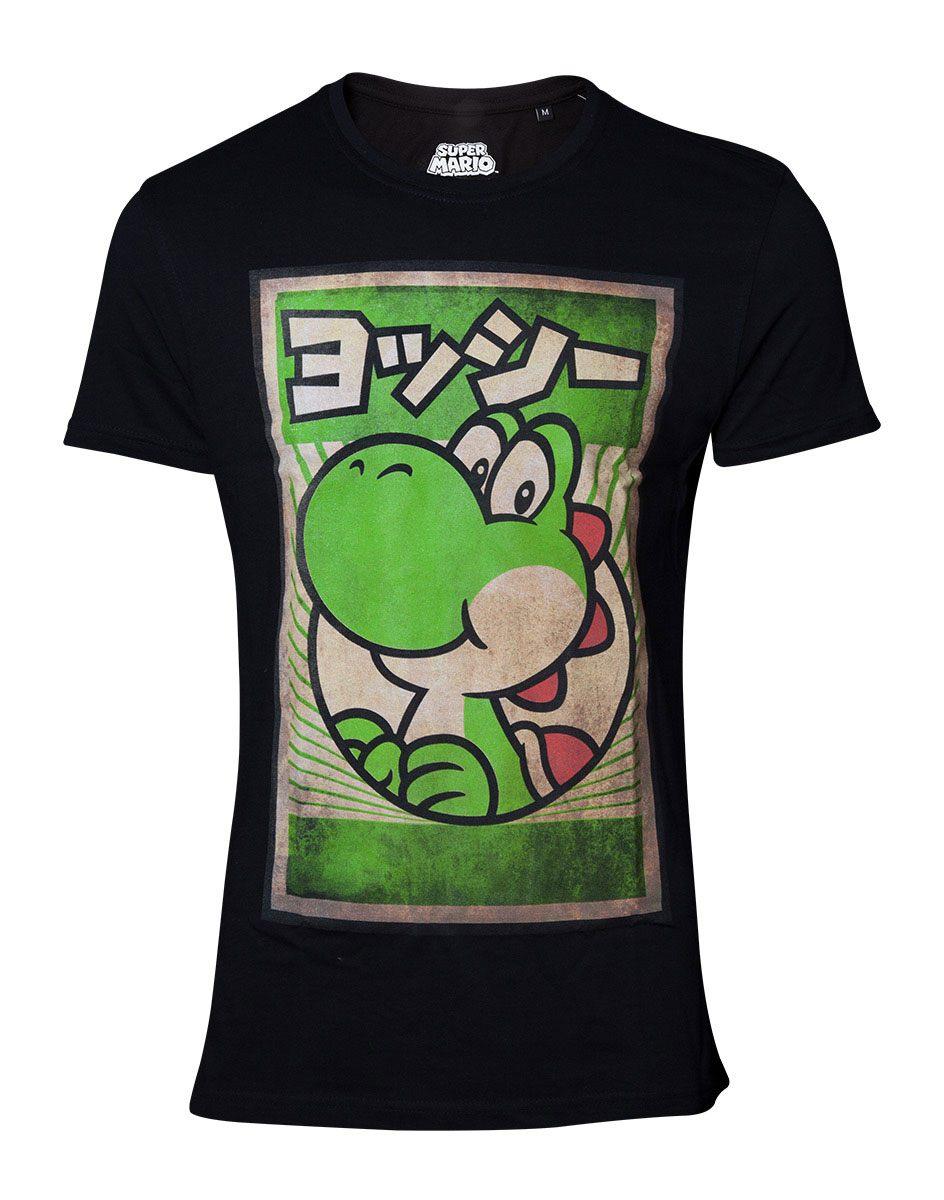 Super Mario T-Shirt Propaganda Poster Inspired Yoshi  Size L