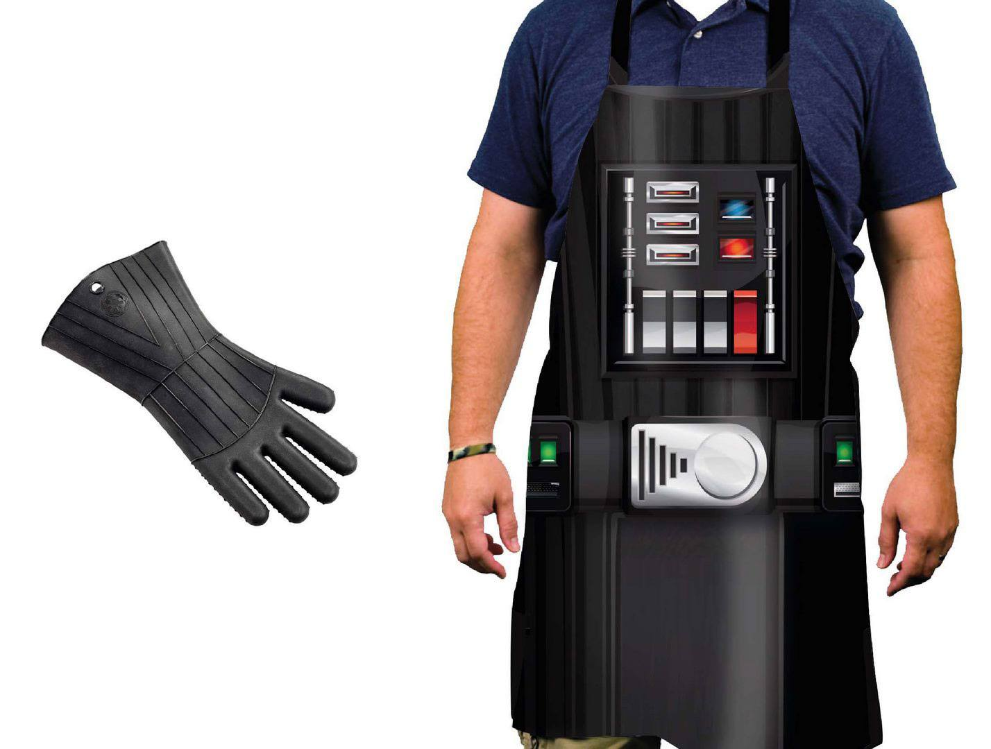 Star Wars cooking apron with silicone oven glove Darth Vader