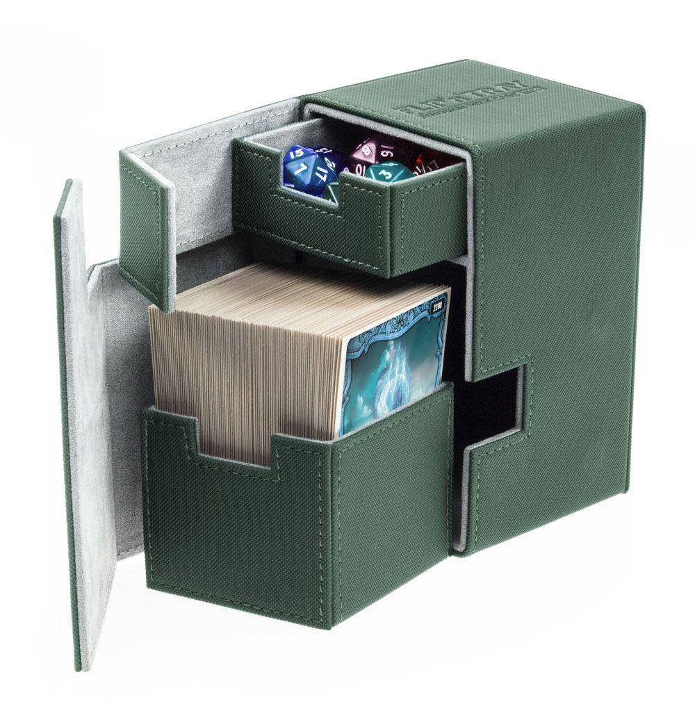 Ultimate Guard Flip´n´Tray  Deck Case 100+ Standard Size XenoSkin Green
