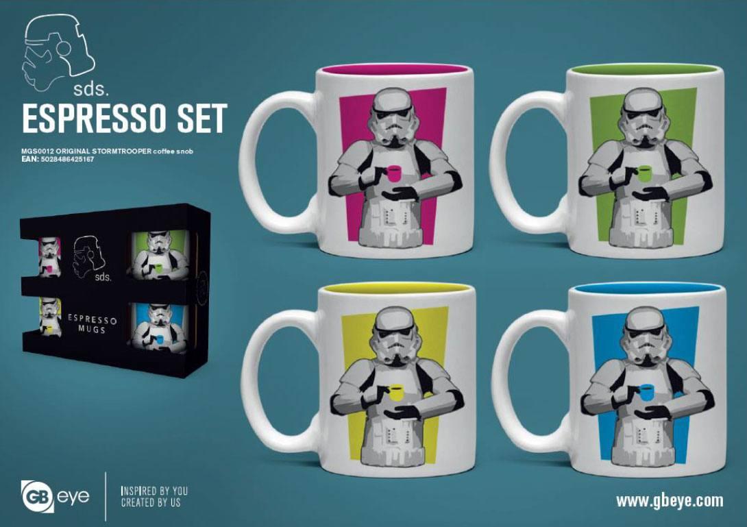 Original Stormtrooper Espresso Mugs 4-Pack Coffee Snob