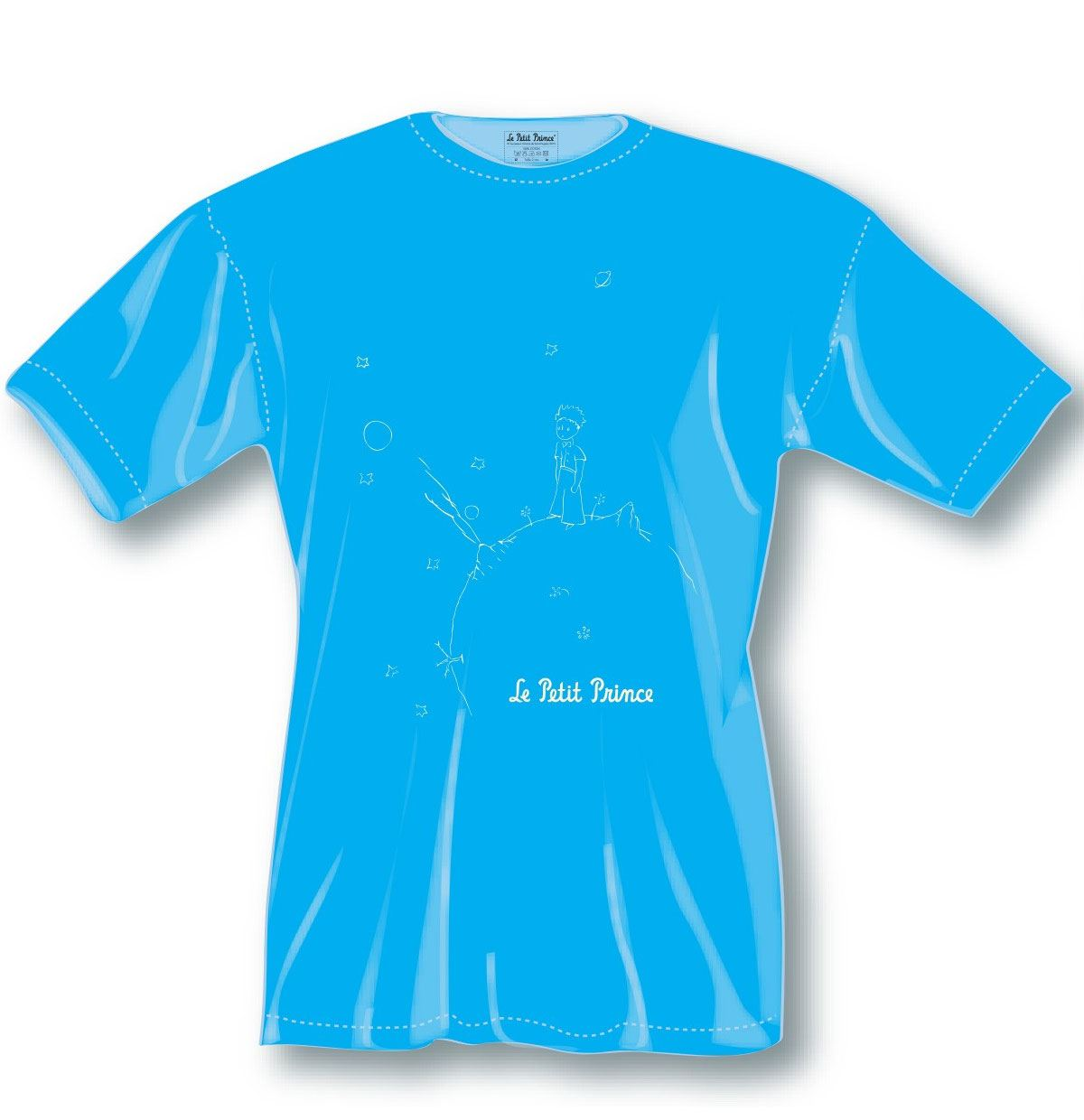 The Little Prince Ladies T-Shirt Blue Icon Size S