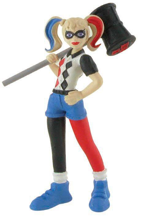 DC Comics Super Hero Girls Mini Figure Harley Quinn 9 cm