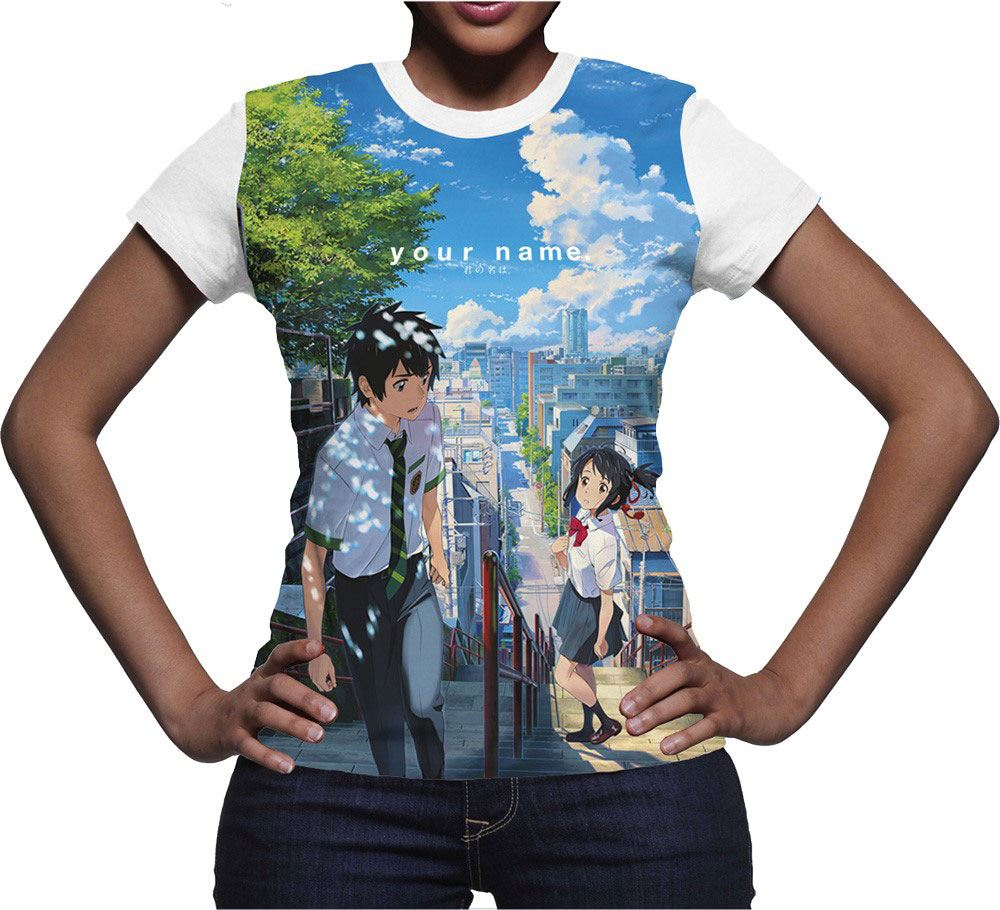 Your Name Sublimation Girlie T-Shirt Incontro Size L