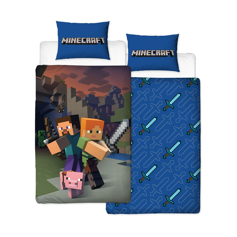 Minecraft Duvet Set Reversible Good Guys 135 x 200 cm / 48 x 74 cm