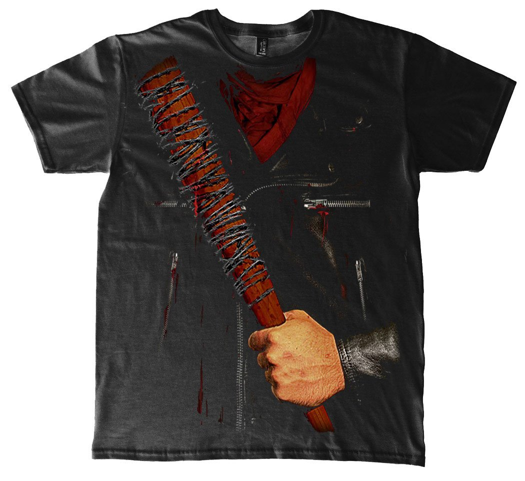 The Walking Dead T-Shirt Negan Costume Size L