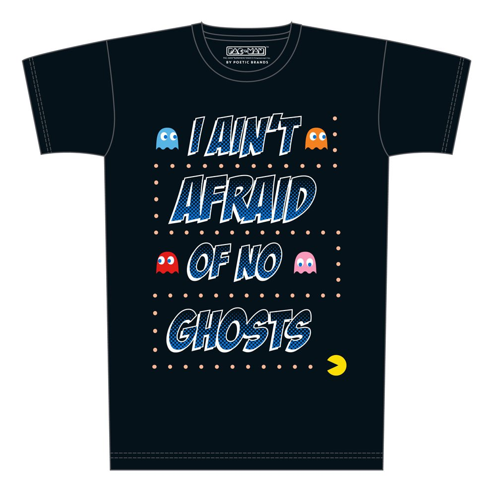 Pac-Man T-Shirt No Ghosts Size L