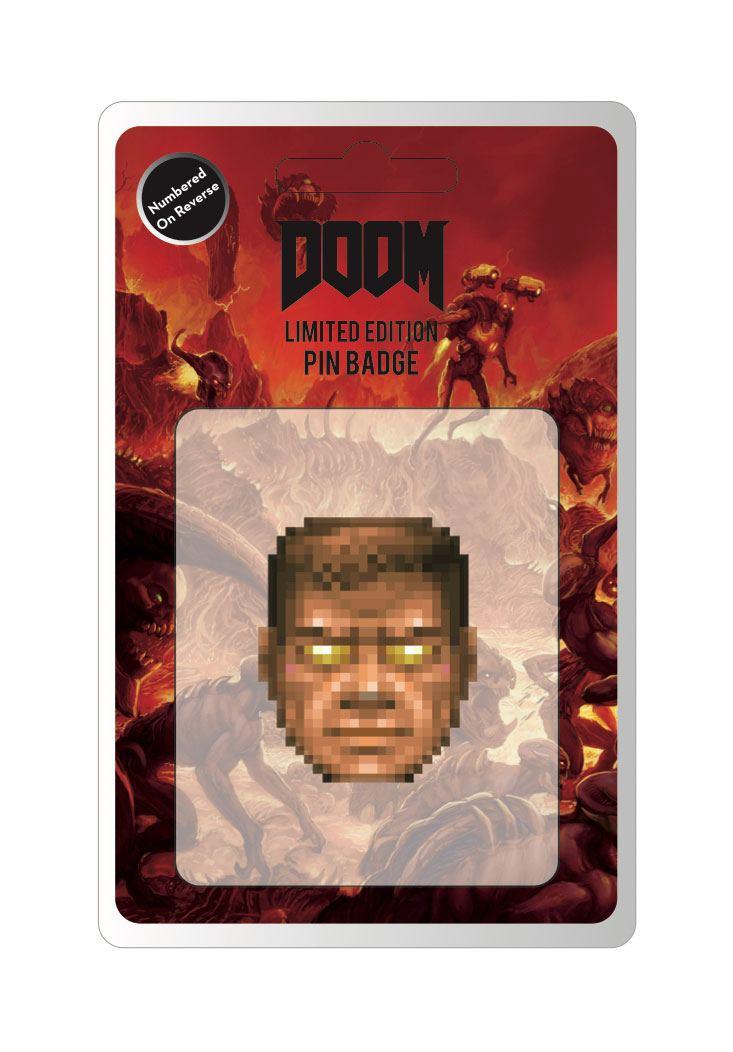 Doom Pin Badge Face