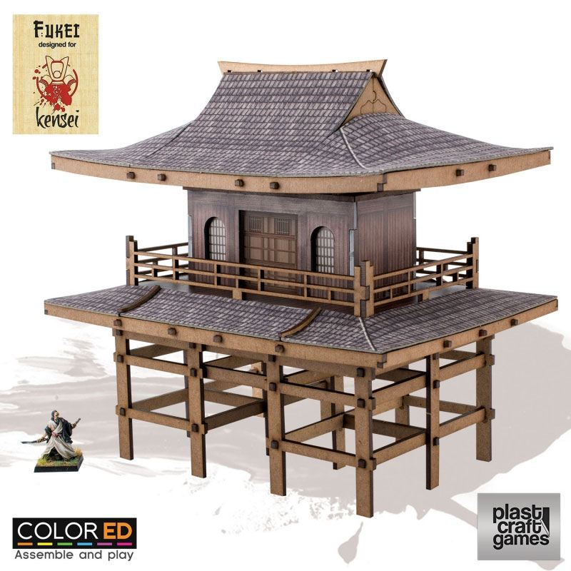Kensei ColorED Miniature Gaming Model Kit 28 mm Sanmon Gate