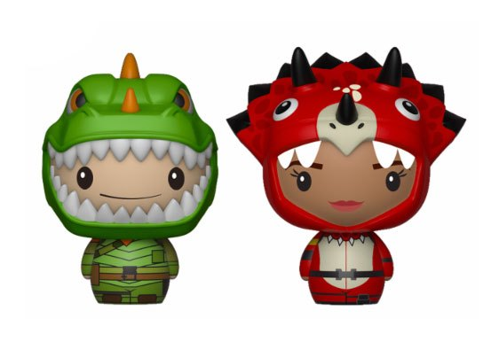 Fortnite Pint Size Heroes Mini Figures 2-Pack Rex & Tricera Ops 6 cm