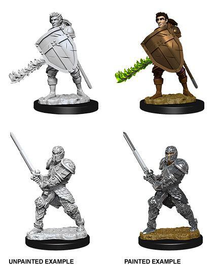 D&D Nolzur's Marvelous Miniatures Unpainted Miniatures Male Human Fighter Case (6)