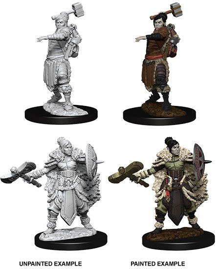 D&D Nolzur's Marvelous Miniatures Unpainted Miniatures Female Half-Orc Barbarian Case (6)