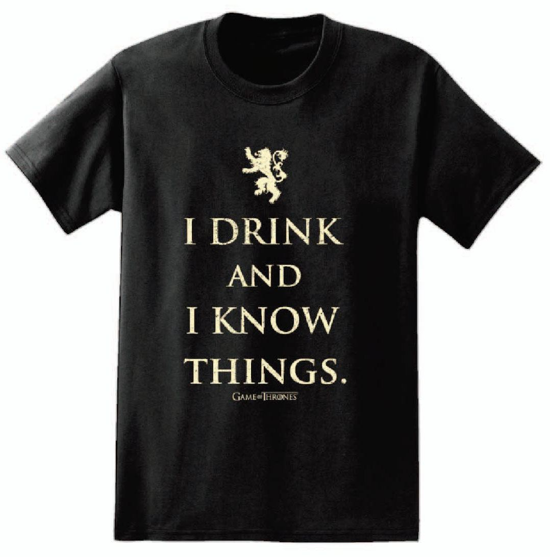 Game of Thrones T-Shirt I Drink And I Know Things Size L
