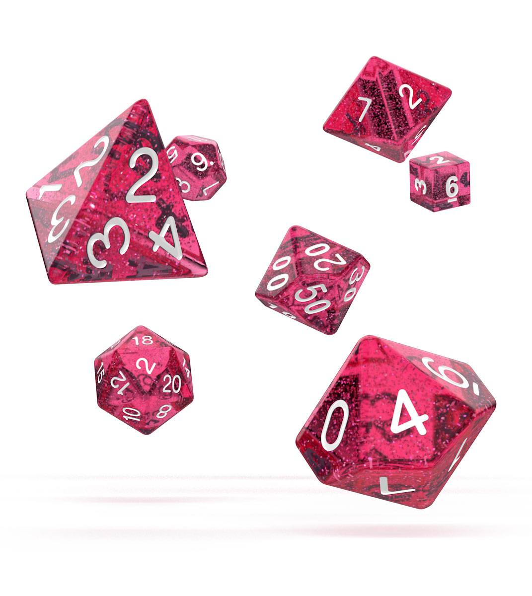 Oakie Doakie Dice RPG Set Speckled - Pink (7)