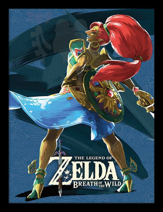 Legend of Zelda Breath of the Wild Framed Poster Divine Beast Vah Nabori 45 x 33 cm