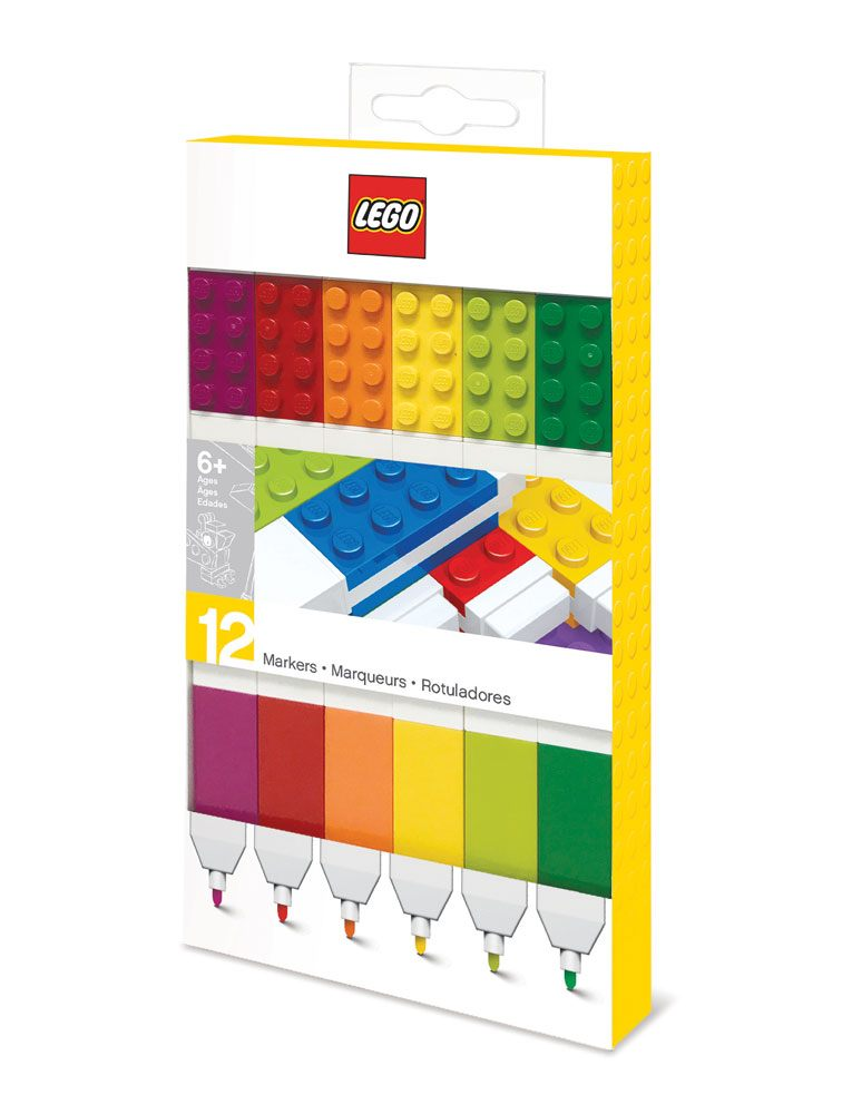 LEGO Felt Tip Pens Set 12-Pieces Bricks