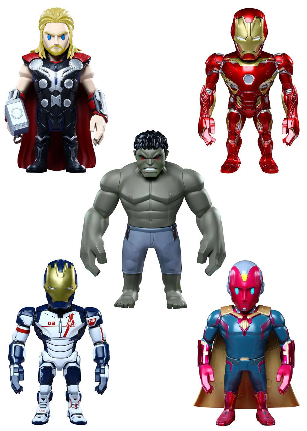 Avengers Age of Ultron Artist Mix Bobble-Heads Series 2 Deluxe Set 13 cm --- DAMAGED PACKAGING