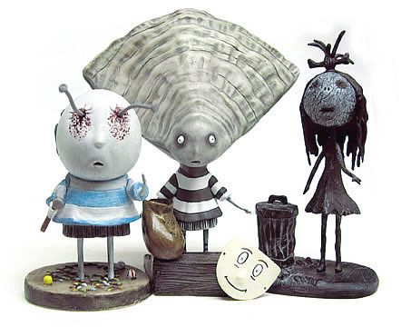 Tim Burton PVC Figure Set #3 Oyster Boy 10 cm