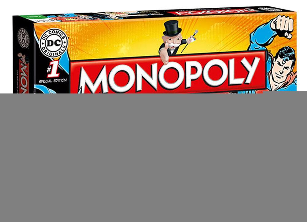 DC Comics Originals Board Game Monopoly *German Version* --- DAMAGED PACKAGING