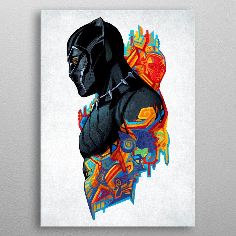 Marvel Metal Poster Black Panther King's Heritage 32 x 45 cm