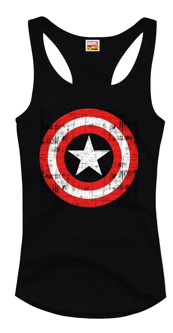 Captain America Girlie Tank Top Logo Size S