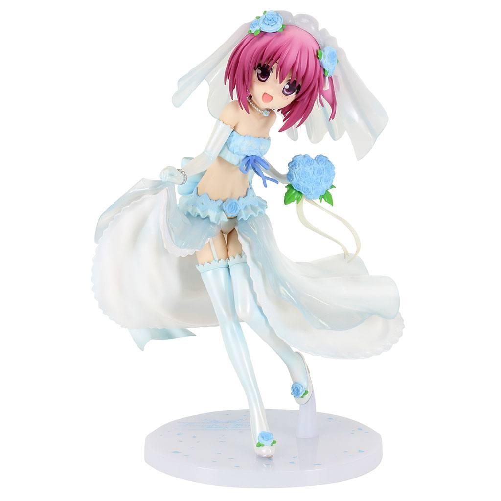 Ro-Kyu-Bu! SS PVC Statue 1/7 Tomoka Minato Blue Wedding Dress Ver. 22 cm --- DAMAGED PACKAGING