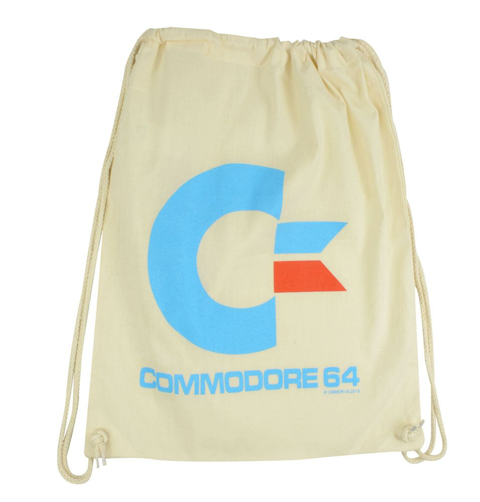 Commodore 64 Gym Bag White Logo