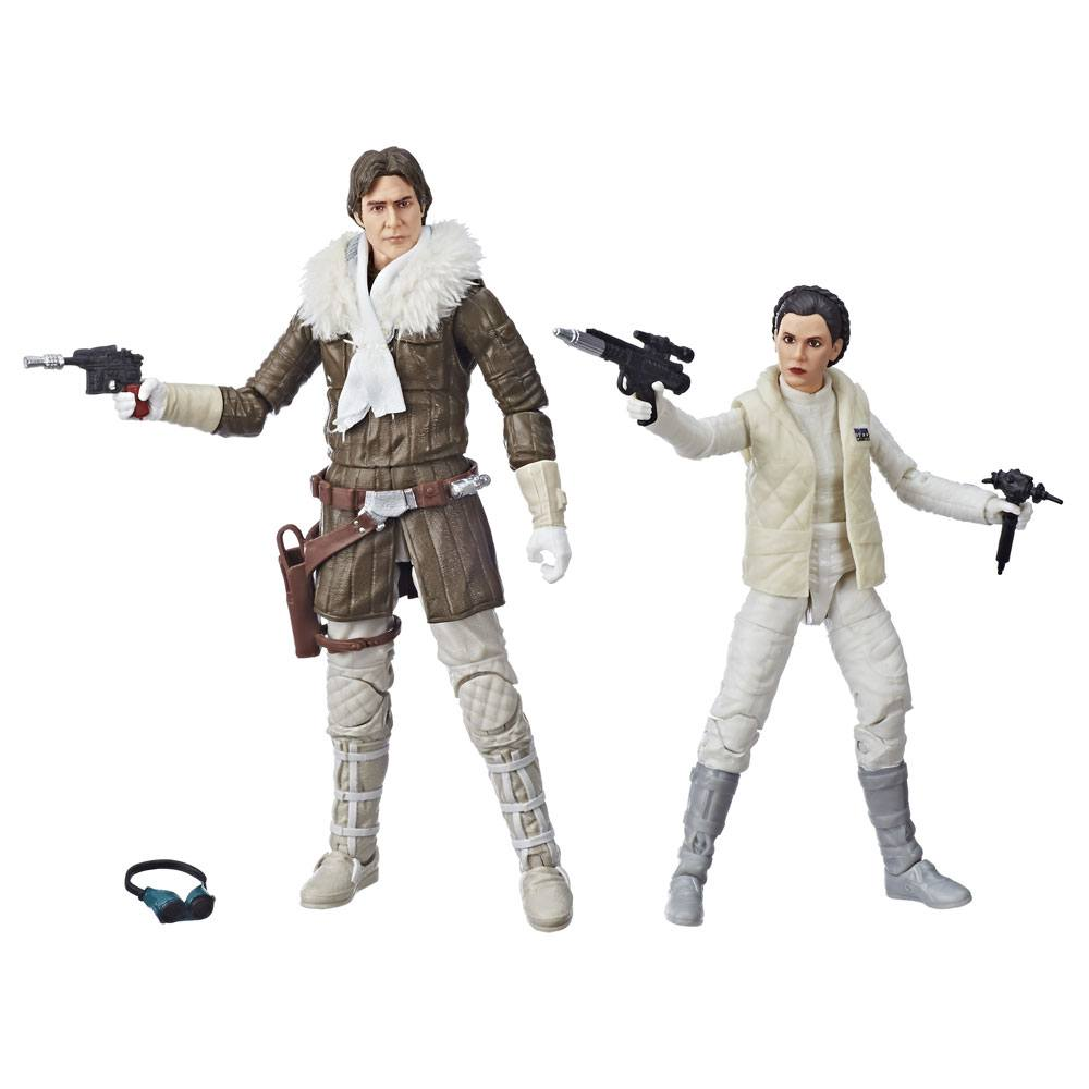 Star Wars Episode V Black Series Action Figures 2018 Leia & Han (Hoth) Convention Exclusive 15 cm
