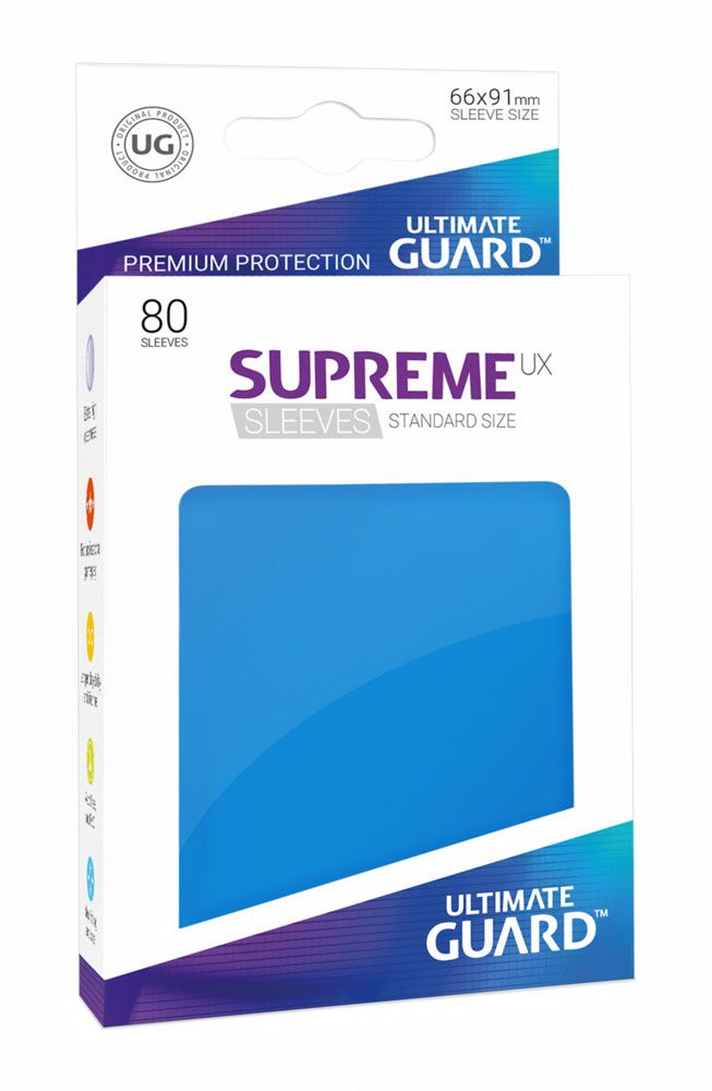 Ultimate Guard Supreme UX Sleeves Standard Size Royal Blue (80)
