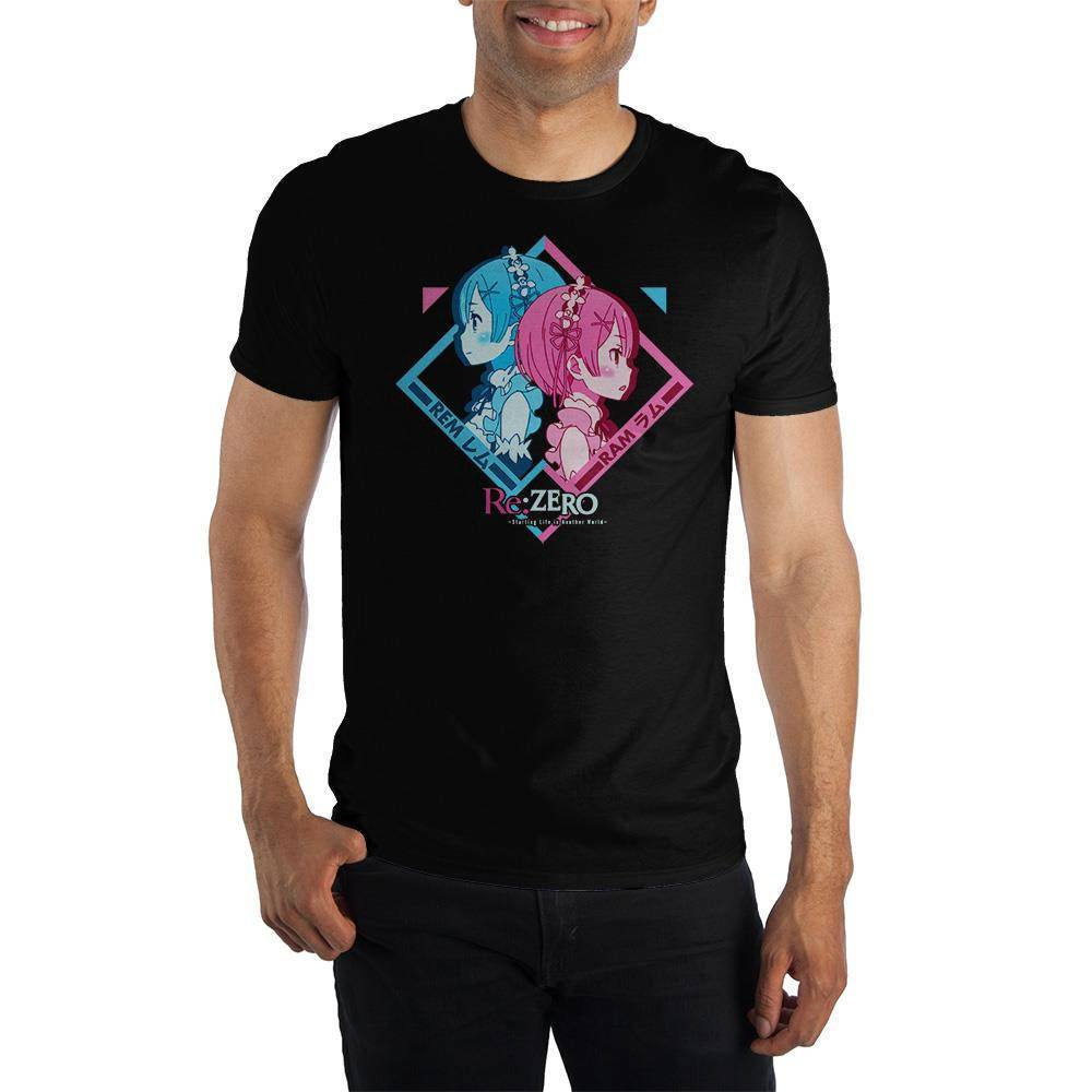 Re: Zero T-Shirt Rem & Ram  Size XL