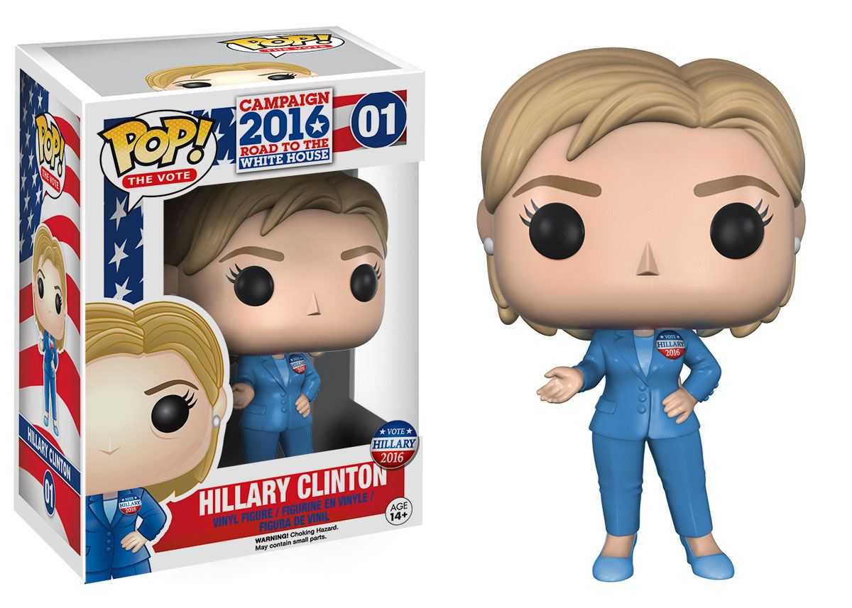 Campaign 2016 POP! Games Vinyl Figure Hillary Clinton 9 cm