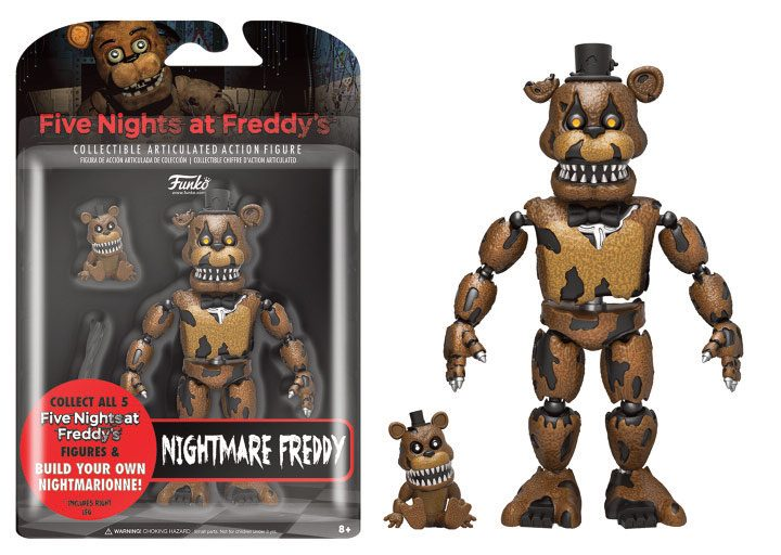 Five Nights at Freddy's Action Figure Nightmare Freddy 13 cm
