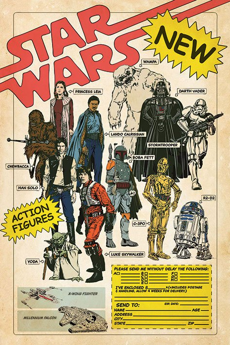 Star Wars Poster Pack Action Figures 61 x 91 cm (5)
