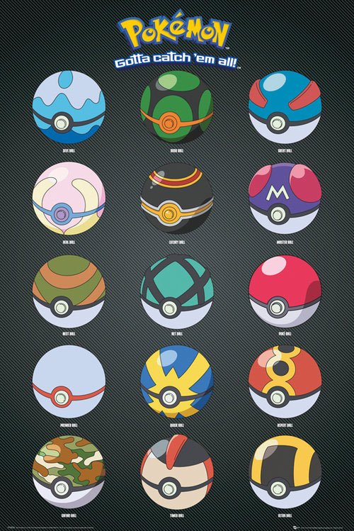 Pokemon Poster Pack Pokeballs 61 x 91 cm (5)