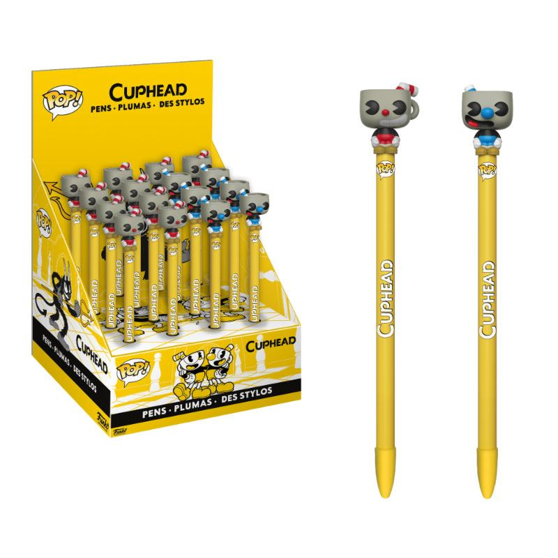 Cuphead POP! Homewares Pens with Toppers Display (16)