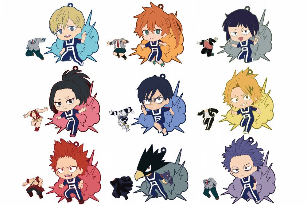 My Hero Academia Rubber Charms 7 cm Series 2 Assortment Toy'sworks Collection Niitengomu! (10)