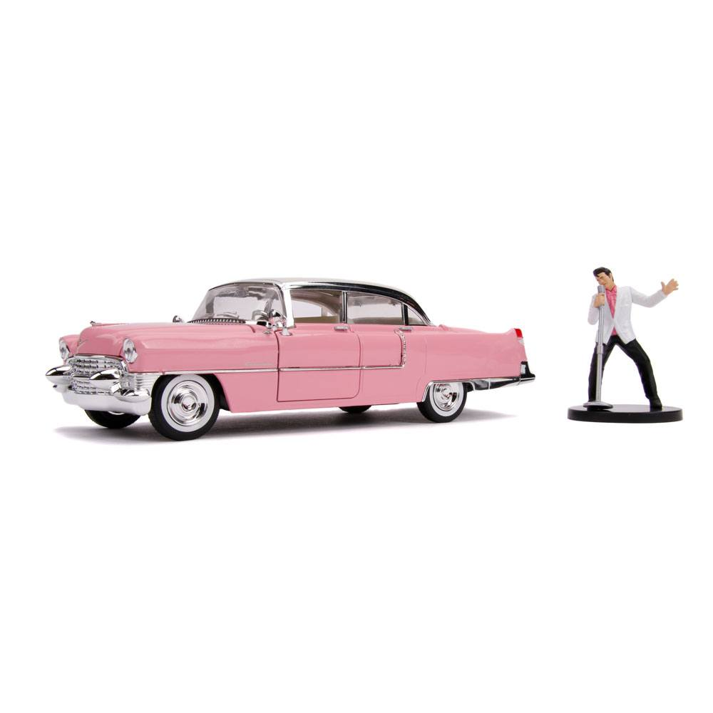 Elvis Presley Hollywood Rides Diecast Model 1/24 1955 Cadillac Fleetwood with Figure