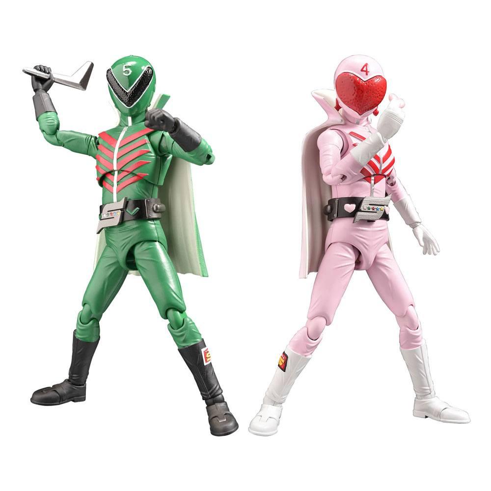 Himitsu Sentai Gorenger Hero Action Figures Momorenger & Midorenger 17 cm