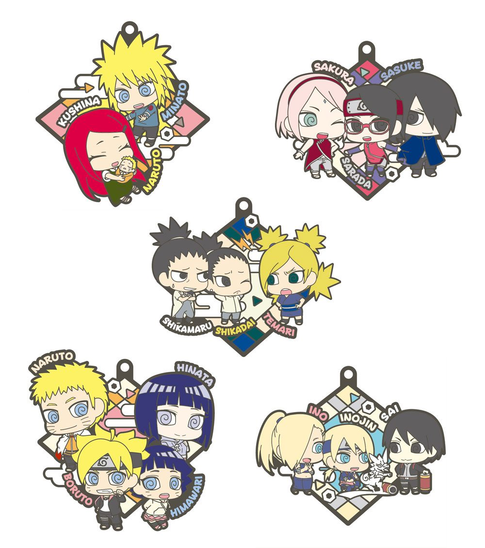 Boruto Naruto Next Generation Rubber Charms 6 cm Assortment (6)