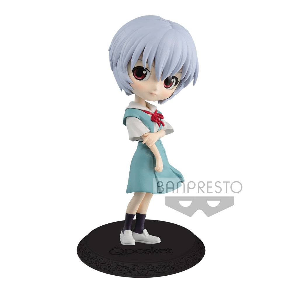 Evangelion Movie Q Posket Mini Figure Rei Ayanami Ver. B 14 cm --- DAMAGED PACKAGING
