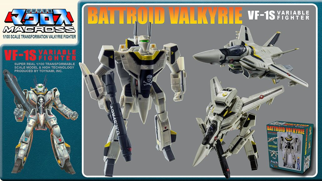 Macross Retro Transformable Collection Action Figure 1/100 VF-1J Focker Valkyrie 13 cm