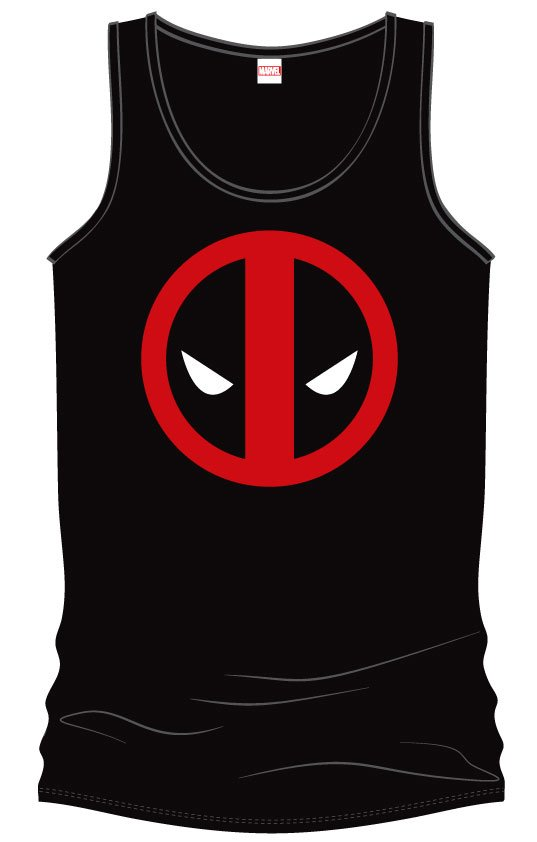 Deadpool Tank Top Eyes Size M