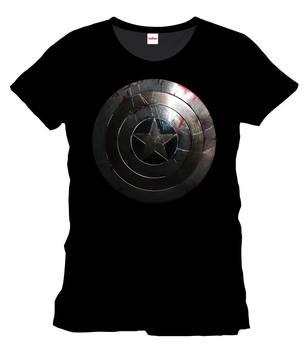Captain America T-Shirt Silver Shield Size XXL