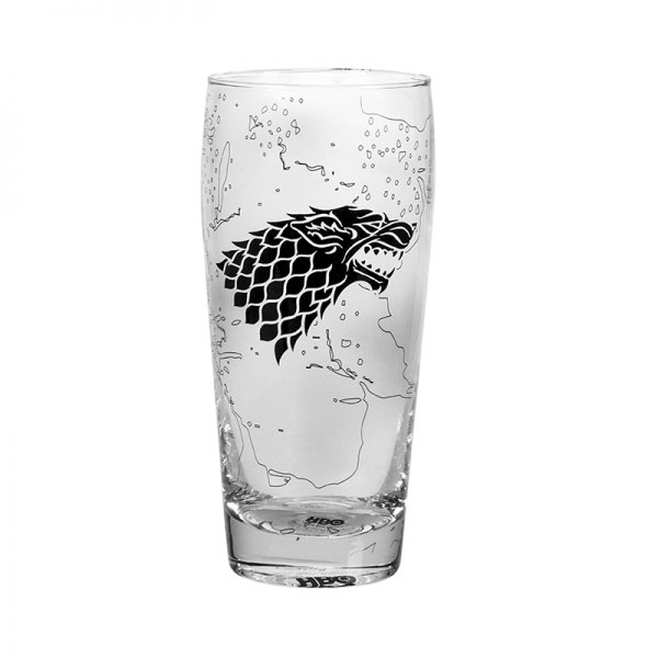 Game of Thrones Drinking Glass King In The North